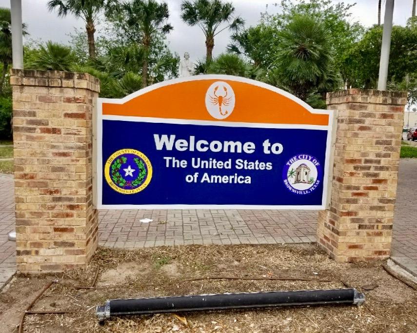 Douglas Ducote at the US border