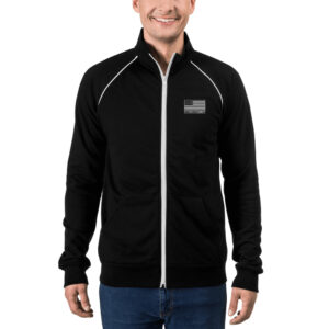 """Douglas Ducote Wings"" Unisex Piped Fleece Jacket"
