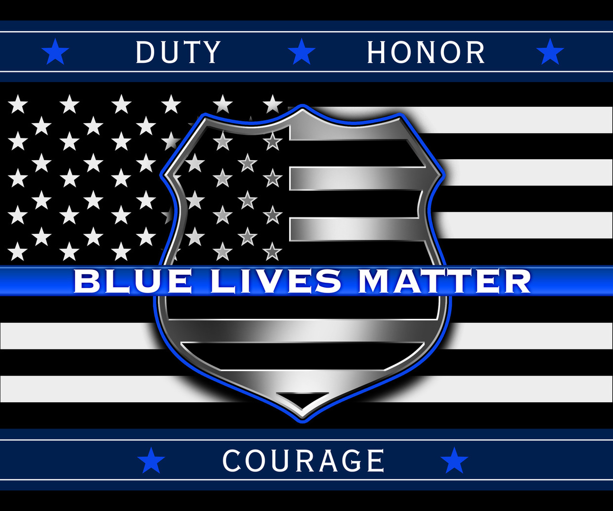 Blue Lives Matter! Click on the banner for an important message from Douglas Ducote.