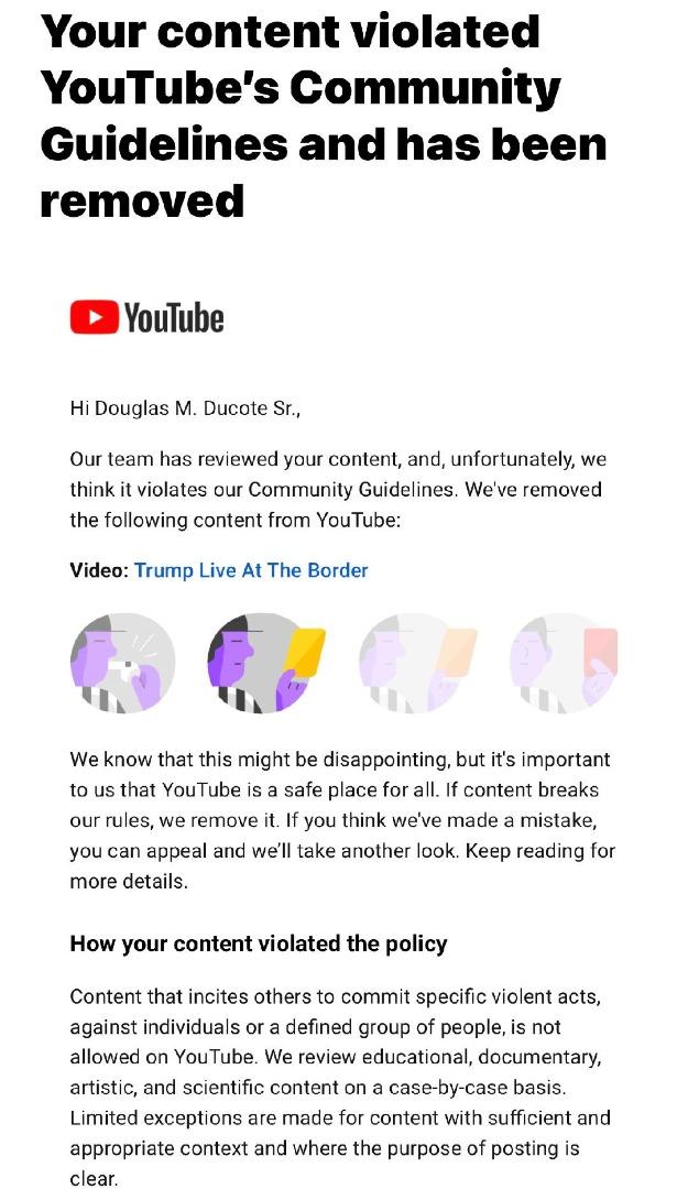YouTube/Google Has Shut Down My Channel
