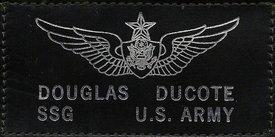 My flight suit badge