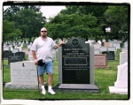 Paying my respects after Desert Storm to my former commander Maj. Marie Rossi
