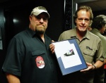 Back stage with Ted Nugent