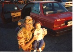 Saying goodbye to my kids before deploying to Desert Shield/Storm October 1990