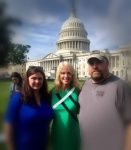 My wife and I with President Trump's advisor Kellyanne Conway in DC