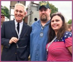 My wife and I with Roger Stone